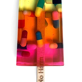 Miss Bugs - Do No Harm Ice Lolly (Pills Multicoloured Stripe)