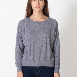 American Apparel - Tri-Blend Light Weight Raglan Pullover
