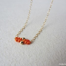 fordwych jewellery - 14kgfネックレス【baguette】ゴールデンオレンジ