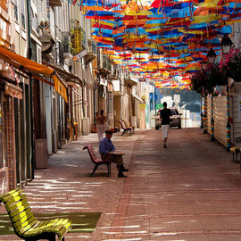 Hundreds of Floating Umbrellas Once Again Cover The Streets in Portugal Sextafeira Produções