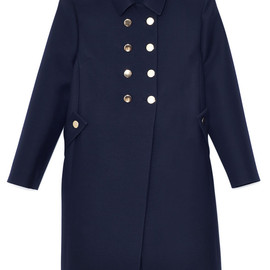 VALENTINO - Navy Wool Drill Couture Coat
