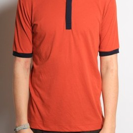 DRIES VAN NOTEN - 'Hacky' Button Down T-Shirt in Rust