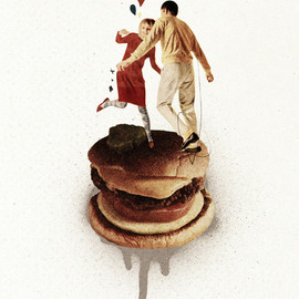 Ju. Ulvoas - These Burgers Are Crazy II Art Print