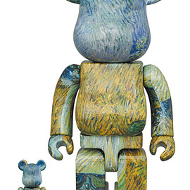 """MEDICOM TOY - BE@RBRICK Van Gogh """"Country Road in Provence by Night"""" 100% & 400%"""