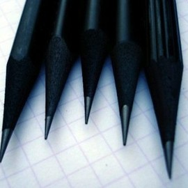Dark Wood Black Pencils