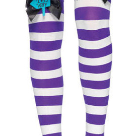 Leg Avenue - Mad Hatter Bow Top Thigh Highs