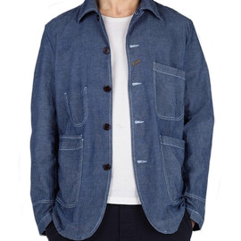 universal works - chambray bakers jacket UNIVERSAL WORKS CHAMBRAY BAKERS JACKET | MY WARDROBE 60% SALE + 20% VOUCHER CODE