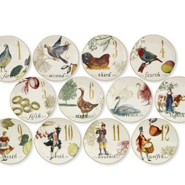 Williams Sonoma - 12 Days of Christmas Salad/Dessert Plates