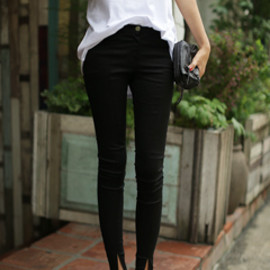 Dholic - Slit Point Skinny Pants