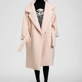 Carven - Powder pink bouclé wool coat