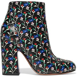 Marc Jacobs - Cora printed glossed snake-effect leather ankle boots