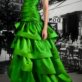 Reem Acra - Resort 2012 green gown