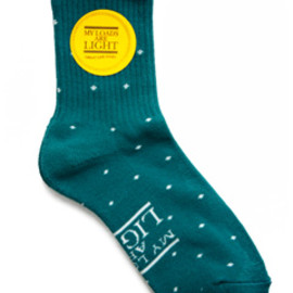 MY LOADS ARE LIGHT - Dot Sox (turquoise)