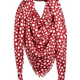 Louis Vuitton - Yayoi Kusama Louis Vuitton Monogram Shawl Dots Infinity red
