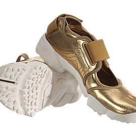NIKE -  Air Rift   Metallic Gold
