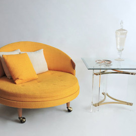 Adrian Pearsall - Adrian Pearsall Havana Chair. Lemon Yellow.