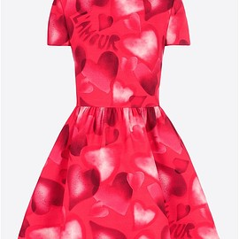 VALENTINO - Dress in camuamour crepe couture