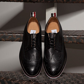 Thom Browne - pebbled wingtip shoes black 3 Thom Browne Black Pebble Wingtip Shoes