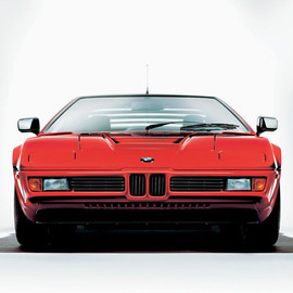 BMW - 1978 BMW M1 - dead-on view, red