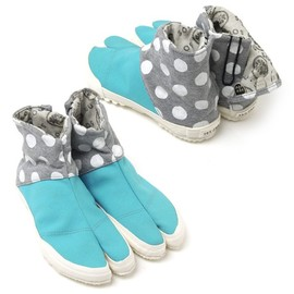 "SOU・SOU - ""Tabi Split-Toe Shoes"" (Polka Dots)"