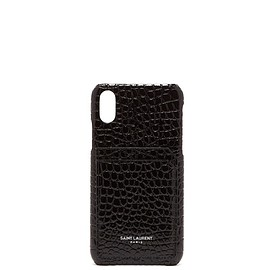 SAINT LAURENT - Crocodile-effect leather iPhone® 10 case