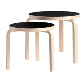 artek - Table 90C black linoleum