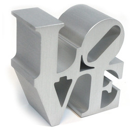 Robert Indiana - LOVE Replica (Silver)