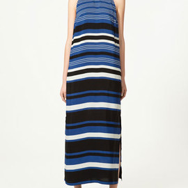 ZARA - Blue and Black Stripe Dress