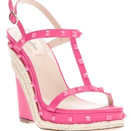 VALENTINO - studded wedge sandal