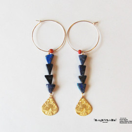 Rough'N'tumble - Summer collection Lapis hoop pierce