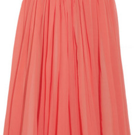 SEE BY CHLOE - Cotton and silk-blend georgette skirt
