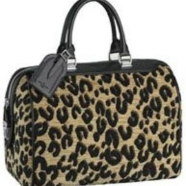 LOUIS VUITTON - Louis Vuitton Speedy Leopard Bag Black 2013 M97396