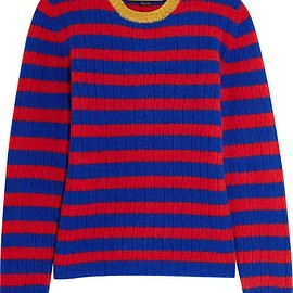 Gucci - Striped cashmere and wool-blend sweater