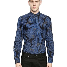 GIVENCHY - PAISLEY PRINTED COTTON POPLIN SHIRT