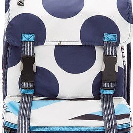 KENZO - Navy & White Polka Dot Backpack