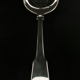"Jenny Holzer - ""MONEY CREATES TASTE"" Spoon"