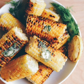 brooklyn supper - grilled corn with dill butter // brooklyn supper