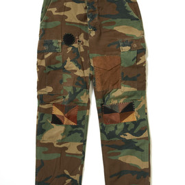 R.H.Vintage - Camouflage Patched Cotton Cargo Pants