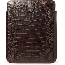 Smythson - Smythson Crocodile-Embossed Leather iPad Sleeve