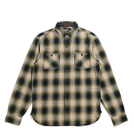 RRL - Plaid Cotton Blend Workshirt-Green Black