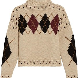 Isabel Marant - Glens argyle intarsia wool and alpaca-blend sweater
