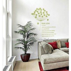 wallstickerdeal.com - Spores Dandelion On The Wind Wall Sticker