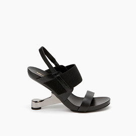 United Nude - United Nude Eamz Maki Black Embossed Snake Leather + Nappa + Elastic