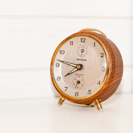 WALL CLOCK : TEMP RESERVED FOR Ca - Vintage 60s kitchen wall clock with timer porcelain ceramic
