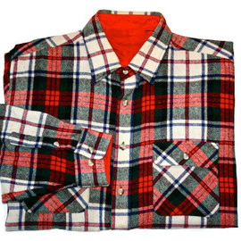 VINTAGE - Vintage Red Plaid Wool Shirt Mens Size XL