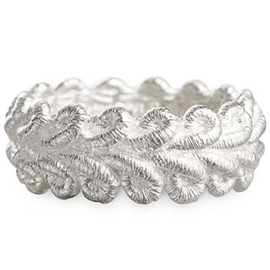 Brigitte Adolph - Silver Lace Border Rings Size 7