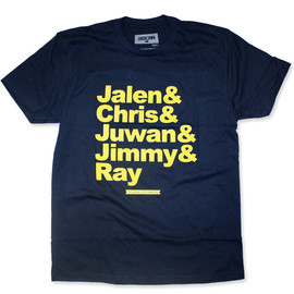 UNDRCRWN - Ghetto Fab Dynasty Tee - Navy/Yellow