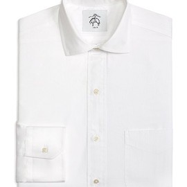 BLACK FLEECE BY Brooks Brothers - PINPOINT SPREAD COLLAR SHIRT