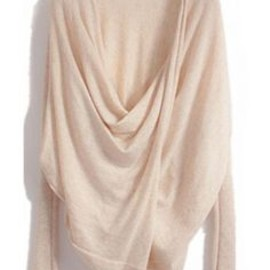 lovely drape on this crossover sweater