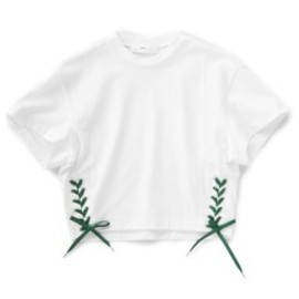 TOGA PULLA - Ribbon Jersey Top (white)